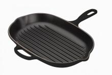 Le Creuset Grillpfanne Signature oval in schwarz