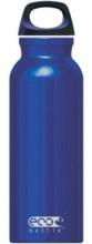 Eco Bottle Trinkflasche Basicline 650 ml in blue shiny