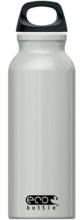 Eco Bottle Trinkflasche Basicline 650 ml in silver metallic