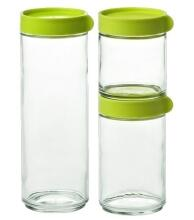 Glasslock Block Canister Set 3- teilig, grün