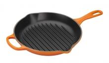 Le Creuset Grillpfanne Signature rund in ofenrot