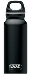 Eco Bottle Trinkflasche Basicline 400 ml in black mat
