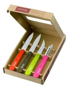 Opinel Küchenmesser- Set Les Essentiels Fifties, 4- teilig
