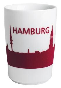 Kahla Five Senses touch! Maxi- Becher Hamburg in rot