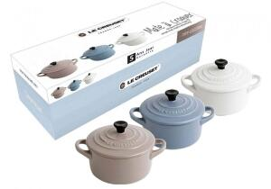 Le Creuset Mini-Cocotten Matt, 3er-Set