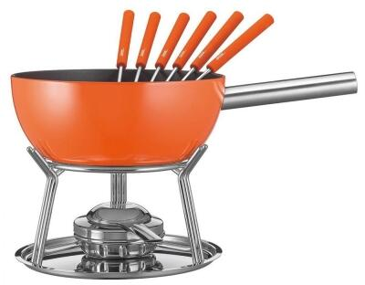 Spring Käsefondue Caquelon-Set Alu Induktion in orange