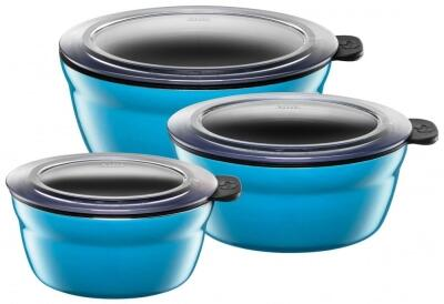 Silit Frischhalteschüsseln Fresh Bowls in Mountain Blue, 3er-Set