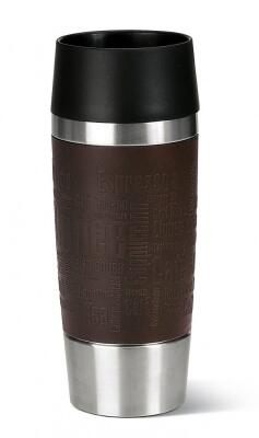 Emsa Isolier-Trinkbecher mit Manschette Travel Mug in braun