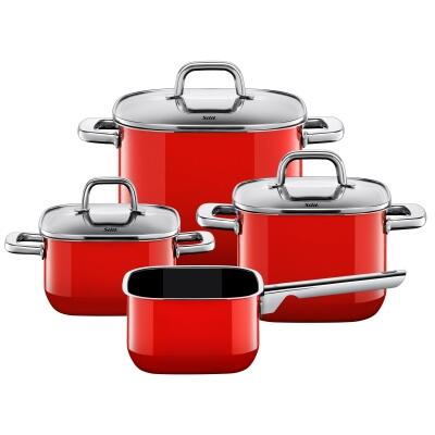 Silit Kochtopf-Set Quadro Red, 4-teilig