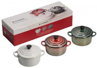 Le Creuset Mini-Cocotten Winter, 3er-Set