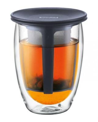 Bodum Teeglas Tea For One, 0,35 l, schwarz
