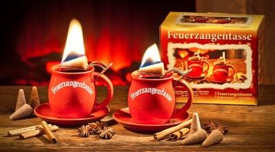 Aladin Feuerzangentasse in terracotta, 2er Set