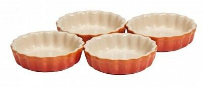 Le Creuset Tarte-Form in ofenrot, 4er-Set