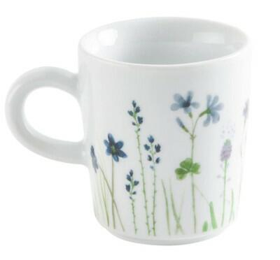 Kahla Magic Grip Wildblume Espresso-Obertasse 0,09 l, blau-rot