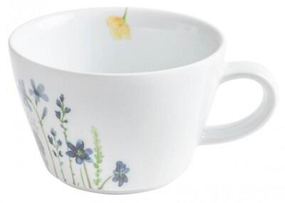 Kahla Magic Grip Wildblume Cappuccino-Obertasse 0,25 l, blau-rot