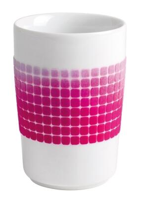 Kahla Five Senses Maxi-Becher 0,35 l in touch! magenta squares