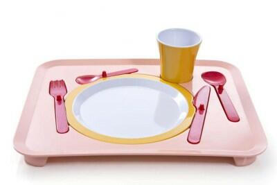 Royal VKB Kindertablett Puzzle Dinner Tray in rosa