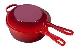 Le Creuset Marmitout in kirschrot 2 in 1
