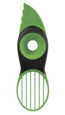 OXO Good Grips 3-in-1-Avocadoschneider in grün