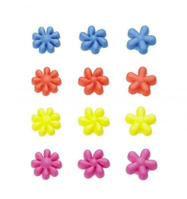 Lurch Glasmarkierer Pretty Flowers, 12er-Set