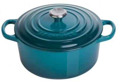 Le Creuset Bräter Signature rund in deep teal