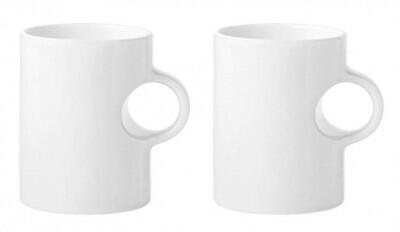 Stelton Becher Circle in weiß, 2er Set