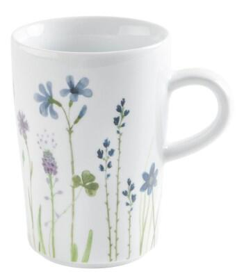 Kahla Magic Grip Wildblume Macchiato-Obertasse 0,35 l, blau-rot