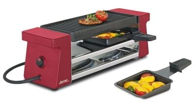 Spring Raclette2 Compact in Aluminiumguss, rot