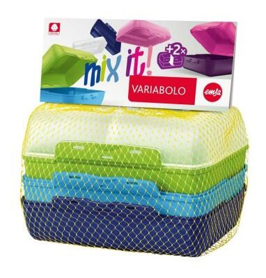 Emsa Kids Lunchbox Variabolo Boys, 4-teilig