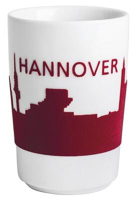 Kahla Five Senses touch! Maxi-Becher Hannover in rot