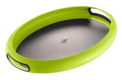 Wesco Tablett Spacy Tray oval in limegreen