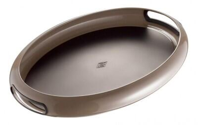 Wesco Tablett Spacy Tray oval in warm grey