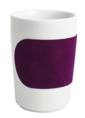 Kahla Five Senses Maxi-Becher 0,35 l in touch! aubergine